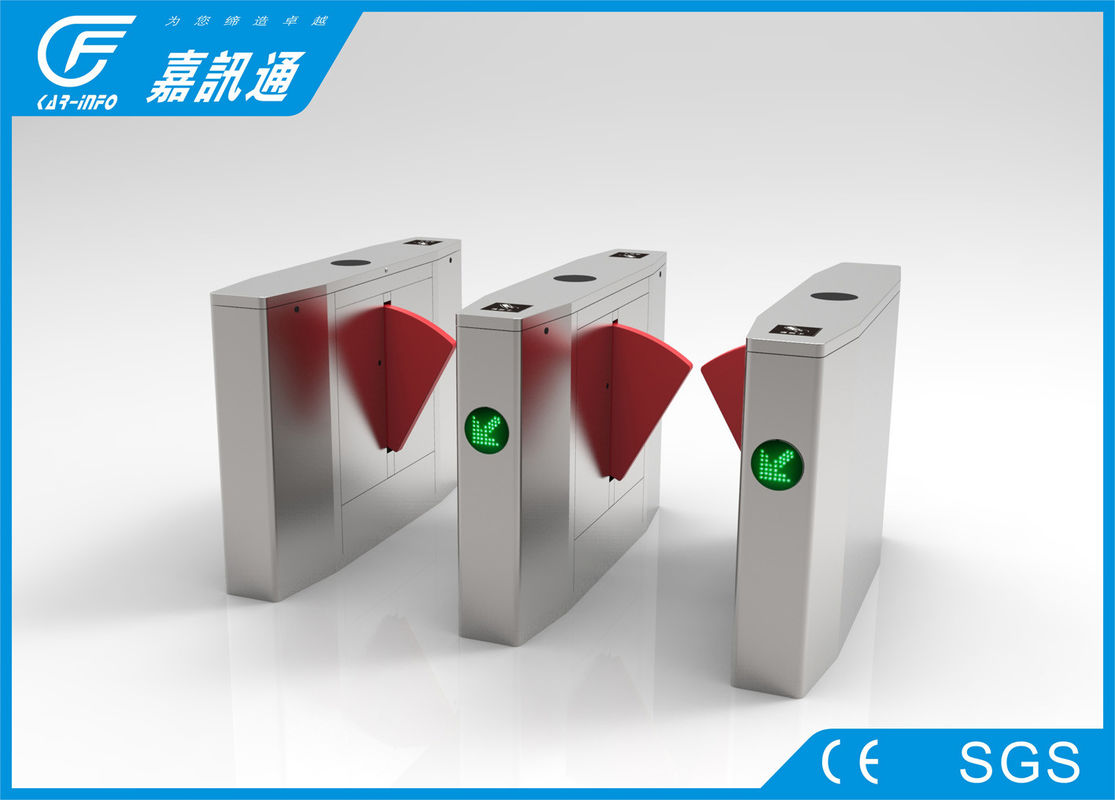 Optical Pedestrian Gate Access Control  , Stainless Steel Turnstiles Facial Recoginition