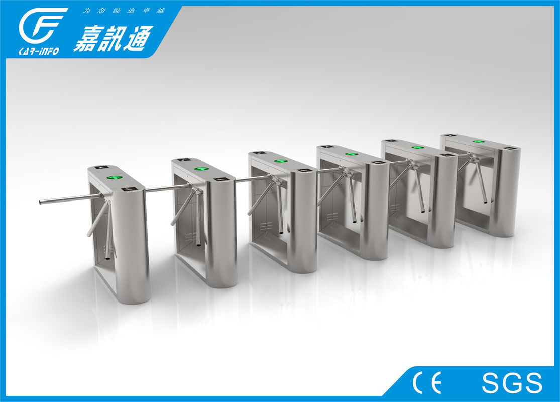 Semi Auto Tripod Coin Operated Turnstile Bi - Directional Single Passage For Factory
