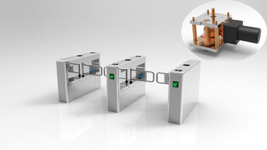 Automatic Low Noise Stainless Steel Turnstiles 900mm Disabled Lane 24V DC Motor